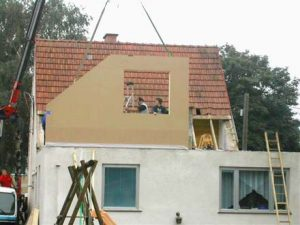 Hausaufstockung Zubau Holzbau Niederösterreich