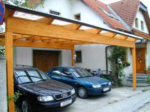 Carport aus Holz Holzbau Niederösterreich